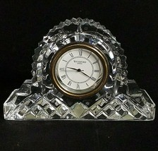 1 (One) Waterford Giftware Cut Lead Crystal Desk Clock- Signed - $61.74