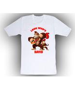 Personalized Donkey & Diddy Kong Birthday T-Shirt Gift #2 - $14.99