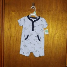 Carter's Child of Mine Blue Dinosaurs 1 Pc Play Suit - 6/9 mth - $12.99