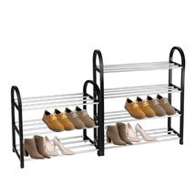 Shoe Rack Organizer Aluminum Plastic 3-4 Layers Storage Shelf Home Pairs... - $17.29+