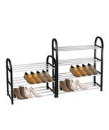 Shoe Rack Organizer Aluminum Plastic 3-4 Layers Storage Shelf Home Pairs... - €15,16 EUR+