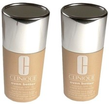 2pc LOT CLINIQUE Foundation 13 Amber Even Better Evens & Correct Makeup - $24.49