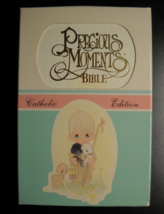 Precious Moment Hardcover Bible Catholic Edition Illustrated in Paper Sl... - $10.99