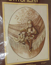 Brother Teddy And Me Stitchery Kit Sunset Sepia Opened Not Started Vintage  - $9.89