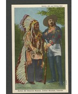 White Border Postcard Buffalo Bill & Sitting Bull, Buffalo Bill Museum, ... - $9.50