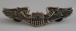 "NASM Wing Insignia Metal Clutchback Pin 2 3/4"" National Air & Space Museum - $8.86"