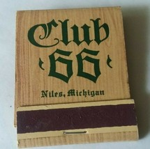 Michigan Niles Up North Club 66 Matchbook Matches Ted Abermann - $8.90