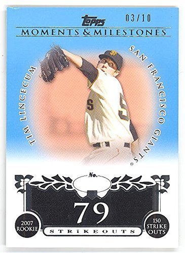 2008 Topps Moments & Milestones Tim Lincecum Blue /10 (Only 10 made!) Baseball C