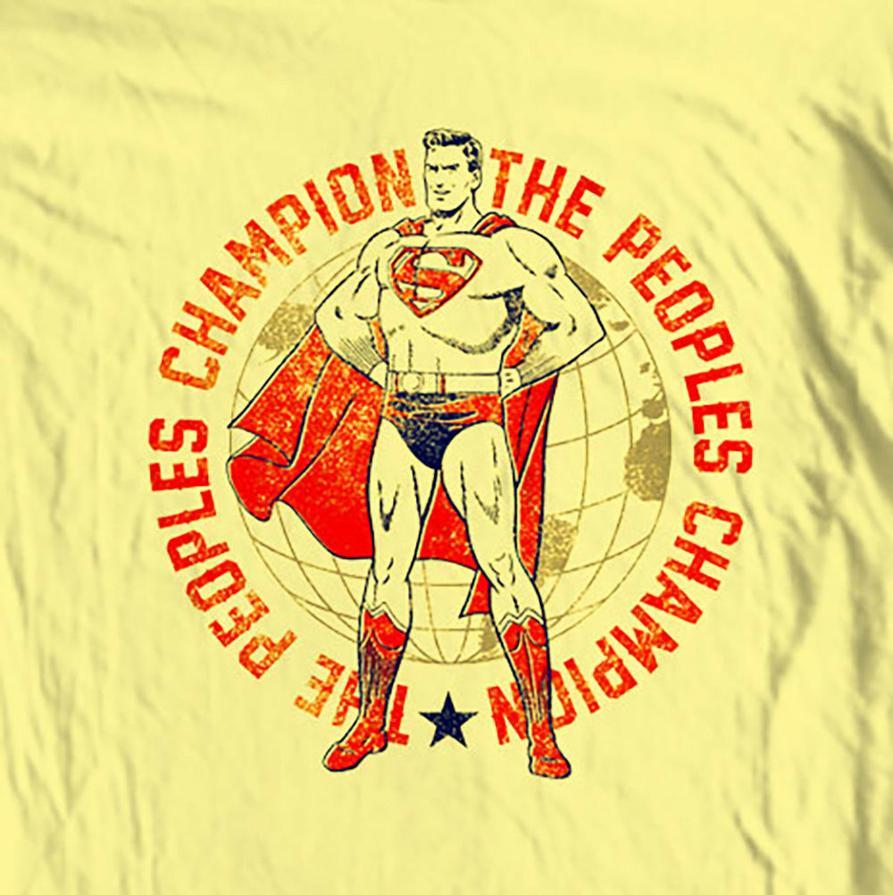Superman People's Champion T-shirt old vintage DC Comics graphic tee SM1927