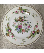 Vintage Crown Staffordshire Polychrome Gaudy BlueWillow 1pc 10.5in Dinne... - $28.45