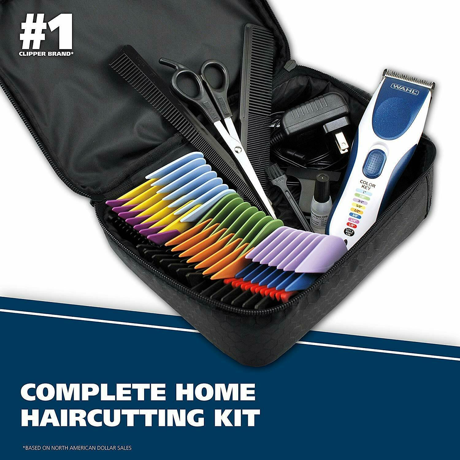 Wahl Color Pro Cordless Rechargeable Hair Clippers, Hair trimmers, 21 pieces