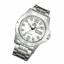 Orient Men's Automatic Watch FEM7L005W9 White Dial Silver Linked Bracelet - $179.33