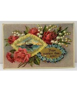 Hope Sustain the Ever Ship Flowers Gild Embossed New Holland Pa Postcard... - $5.95