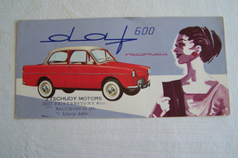 daf daffodil owners sales brochure used original  1 page fold out 1961 - $19.98