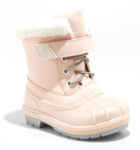 Cat & Jack Toddler Girls' Journey Pink Faux Fur Thermolite Winter Snow Boots NEW