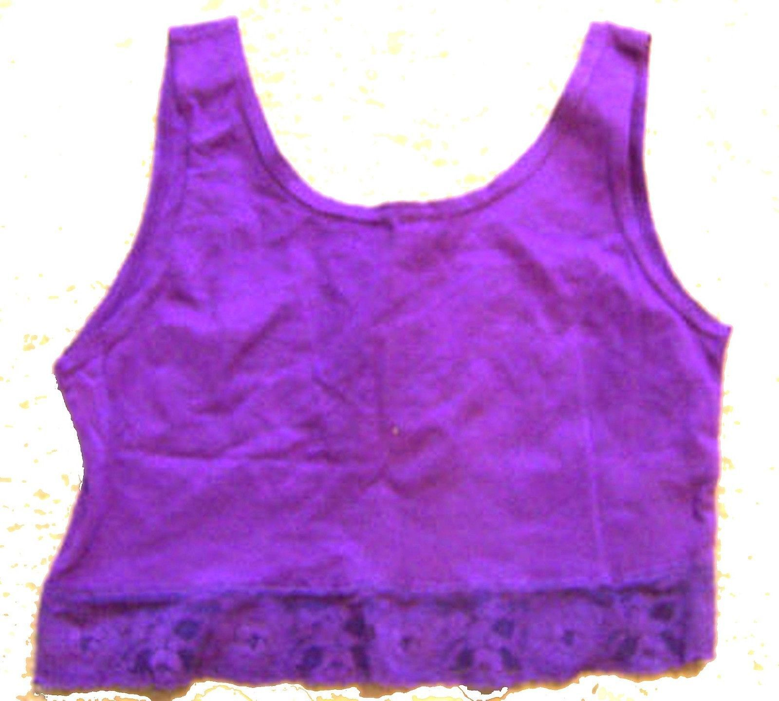 Sz M/L - One World Low Back Sleeveless Crop Tops in Blue or Purple