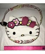 Hello Kitty Cloth Handbag Purse Bag Tote Zips EUC Cute Bow Ears Child or... - $19.79