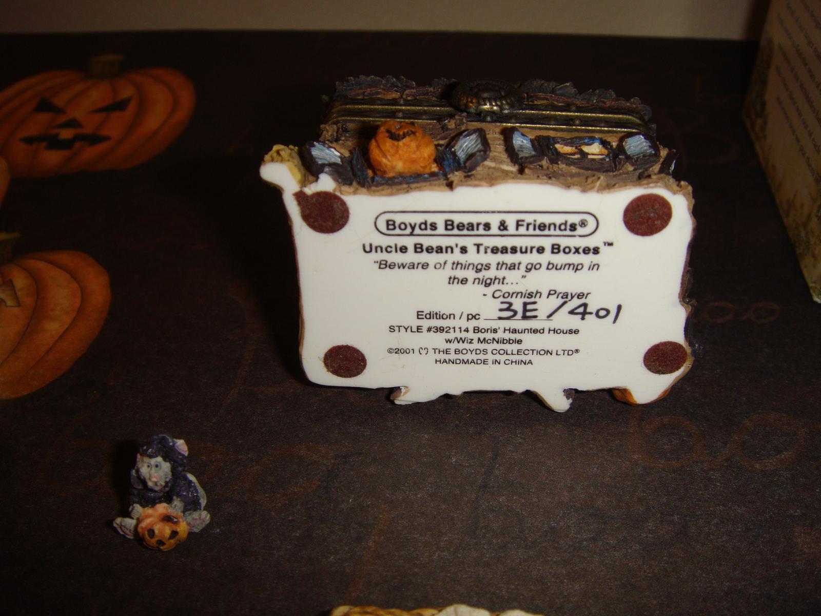 Boyds Bears Treasure Box Boris Haunted House W/Wiz McNibble