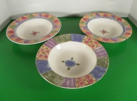 Sango Sweet Shoppe Rim Soup Bowl (S) Lot Of 3 Sue Zipkin - $24.70