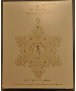 Hallmark - Our First Christmas - Snowflake - Porcelain - Keepsake Ornament 2011 - $13.57