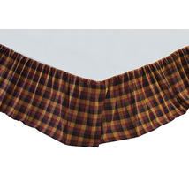 Primitive Check Bed Skirt - All Sizes Available - Vhc Brands