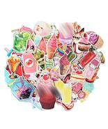 70 Pcs Stickers Colorful Summer Ice Cream Dessert Decal Stickers Waterpr... - $17.17