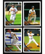 2010 Topps Baltimore ORIOLES Team Set Both Series 1 & 2 (17 cards) - $2.00