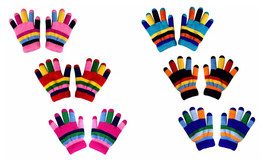 Toddlers Winter Double Layer Rainbow Gloves Pack of 3/6 - $10.40 CAD+