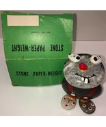Vintage Stone Paper Weight Cartoon Cat or Mouse with box - $18.69