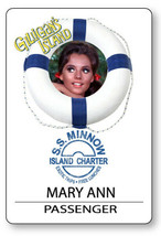 MARY ANN GILLIGANS ISLAND S.S. MINNOW NAME BADGE HALLOWEEN COSPLAY MAGNE... - $14.84
