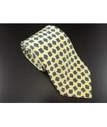 MENS BELARO 100% SILK NECKTIE Yellow w/ Blue Squares - $7.91
