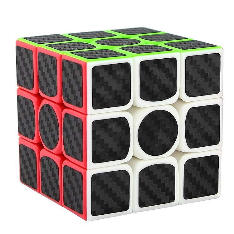 "Carbon Fiber Sticker Speed 3x3x3 Magic Magico Rubik""s Cube Fidget Cube Magico E"