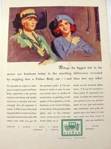 1929 McCLELLAND BARCLAY GM Body by Fisher Ladies in Car Color Print Ad - $9.99