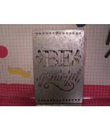 "Metal Decorative Stencil ""Be Grateful"" - $10.80"