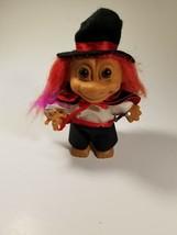 Vintage RUSS MAGICIAN TROLL Doll Magic Troll & Small BUNNY TROLL - $14.80