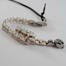 STAINLESS ROSE STEEL AND WHITE CERAMIC TANK MESH BRACELET 4US BY CESARE PACIOTTI image 2