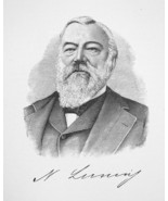 NICHOLAS LUNING California Banker & Realty Owner - 1895 Portrait Antique... - $9.45