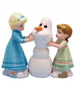 Disney's Frozen Want To Build A Snowman? Ceramic Salt & Pepper Shakers S... - $29.02