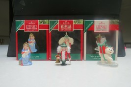 Hallmark 1990 Miniature Ornaments Madonna and Child Wee Nutcrackers Litt... - $16.99