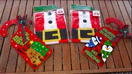 "Lot 4: 2 Christmas Door Hangers ""No Peeking"" & 2 Santa Claus Aprons One ... - $5.73"