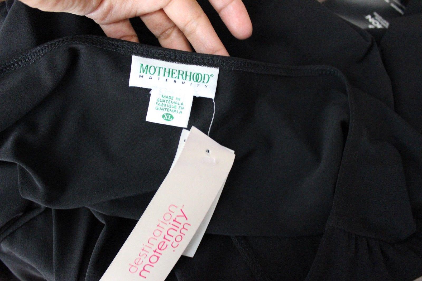 Motherhood maternity dress polyester stretch career black size XL