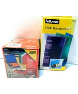 Lot of 2 Fellowes & Curtis Brand Disk Storage & Transport Cases...see ph... - $11.63