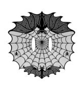 "Heritage Lace Black Bats! Fine-Gauge Lace Cape 60"" x 62"" Bat Cape One Si... - $38.00"