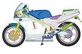 Aoshima Models Honda NSR250R SP 1988 Motorcycle Model Building Kit, 1/12... - $95.00