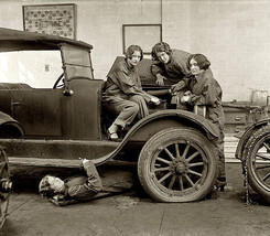 Female Automobile Mechanics 1920's Photo - $12.00