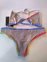 Tavik Color Blocked Sand Full Coverage Bikini Set Size Medium image 2