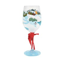 """Let It Snow """"Designs by Lolita"""" Wine Glass 15 o.z. 9"""" High  Gift Boxed  image 2"""