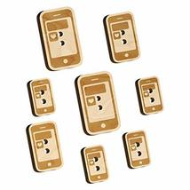 Mobile Tablet Phone Heart Text Message Wood Buttons for Sewing Knitting ... - $9.99