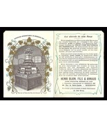 1907 French Wine Bottles Display Back Cover Art Print France Expo Advert... - $54.99