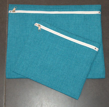 Tallit Tefillin Bag Case Set Turquoise Blue Linen Silver Embroidery Judaica     image 5